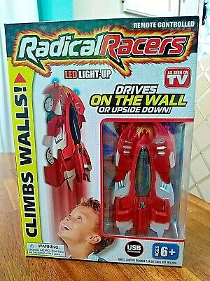 Red Radical Racer LED Light-Up GRAVITY DEFYING RACER CLIMBS WALLS MIRRORS NIB 6+