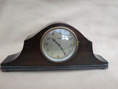 Antique Vintage Mahogany Swiss Mantel Clock For Spares Or Repair