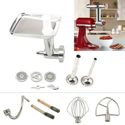 Meat Grinder Wire Whip Spiral Dough Hook Attachment For KitchenAid Stand Mixers