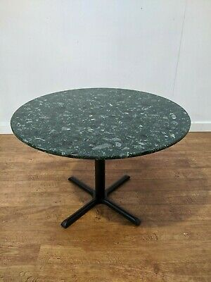 Commercial Grade Green Marble Heavy Duty Dining Table 1100mm Round Restaurant