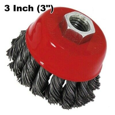 75mm Twist-Knot Cup Wire Brush Bit Wheel For Grinder Drill Paint/Rust Removal