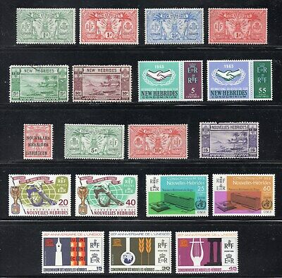 NEW HEBRIDES 1911-1966. 16 MINT HINGED & 3 USED. Cat.£64 (2014)