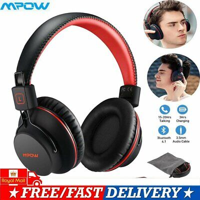 MPOW H1 Over-Ear Wireless/Wired Bluetooth Headphone Headset 20H Sound Sports HD