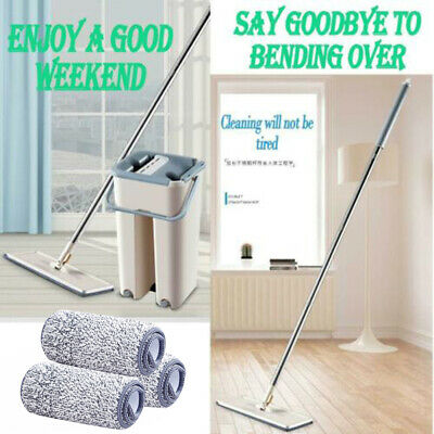 Kit Mop Rags Bucket Household Cleaning Washing Floor Set Microfiber Pad