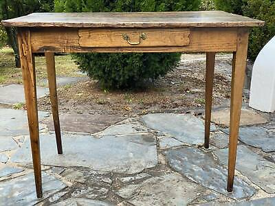French Provincial Authentic Oak Writers Table 19th Century