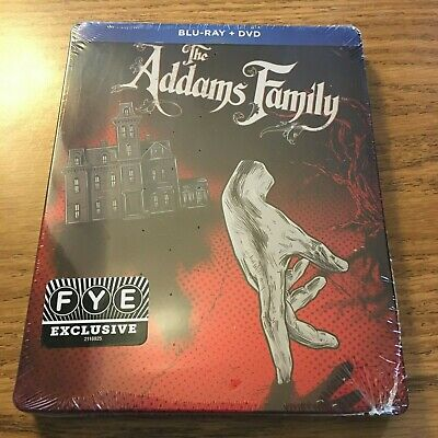 The Addams Family (Blu-ray Steelbook, 1991) Factory Sealed