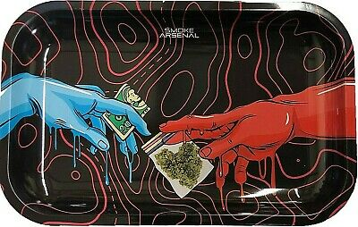 "Smoke Arsenal Premium Rolling Tray ""The Plug-M28"" 6.5""x 11"""