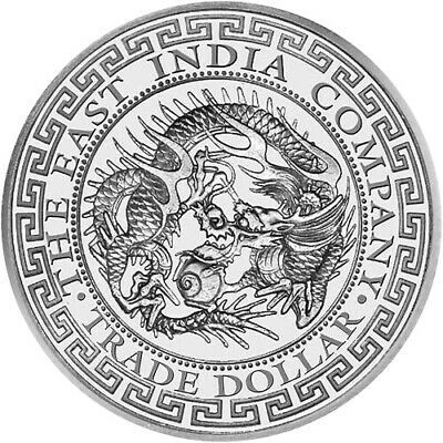 2020 1 oz .999 Fine Silver Japan Trade Dragon 1 Pound East India Company Coin