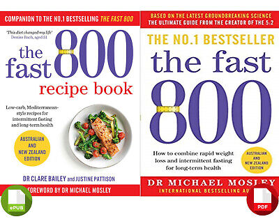 The Fast 800 & The Fast 800 Recipe Book by Michael Mosley EPUB + PDF