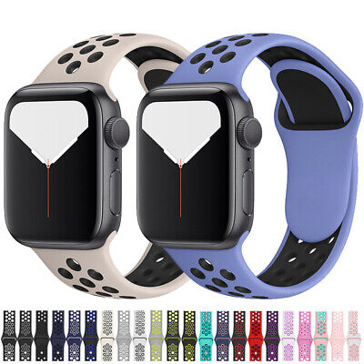 Sport Silicone Wrist iWatch Strap Band For Apple Watch Series 5 4 3 2 40/42/44mm