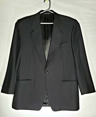 Canali proposta Blazer Sz 54R  Mens 100%wool Dark Gray Suits Made in Italy