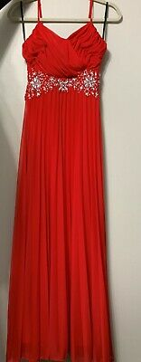 Long Full Length Red Mardi Gras/Prom/Valentines/Homecoming/Night Ball Gown Dress