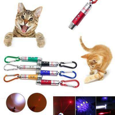 Laser Pen Mini 3 in 1 Keychain LED Torch & Red Laser Pointer Cat Pet Toy