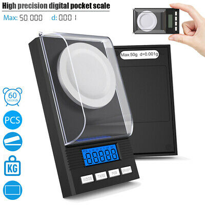 0.001g 50g Digital Pocket Scales Jewellery Precision Electronic Weight Hot Sale