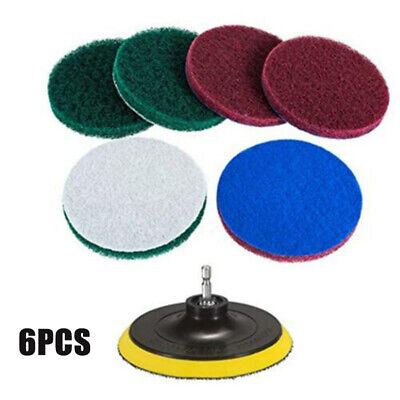 Brush Power Scrubber Scrub Pad Tile Tire Cleaning Kits For Car Polisher Drill UK