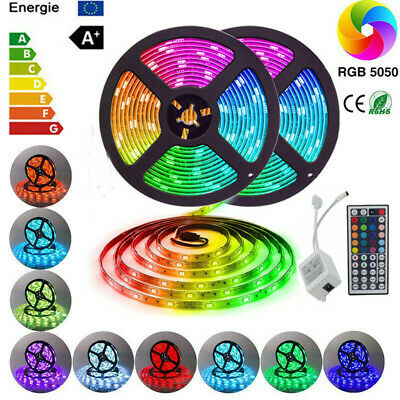 5M Smd5050 Rgb Led Strip Lights Colour Changing Tape Cabinet Kitchen Lighting