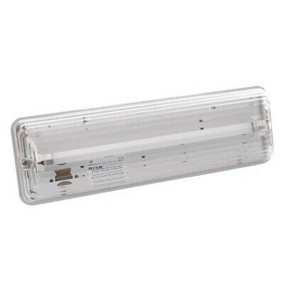 Emergency Light Fitting 3hr T5 Non-Maintained Bulkhead IP65.