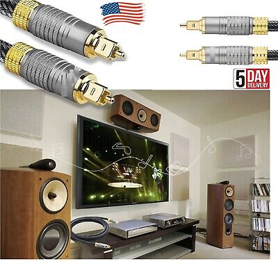 Optical Fiber To-slink Gold Plated Cable Premium Digital Audio Cable For TV DVD