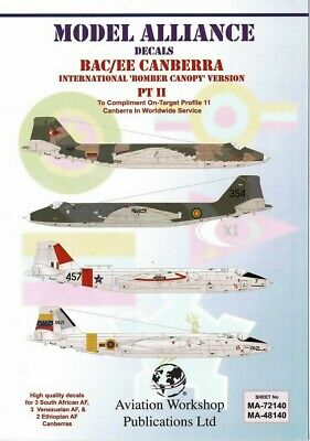 8 Canopy for Airfix kits Hypersonic 1//48 Canberra PR.9//B I