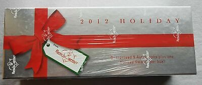 Benchwarmer Holiday Box 2012 9 Autographs + Holiday Swatch per Box