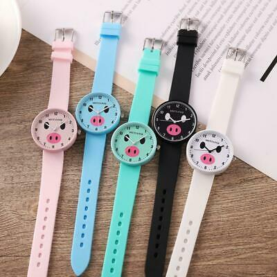 Children Girls Student Cartoon Cute Kids Watches Quartz Silicone Wrist Watch