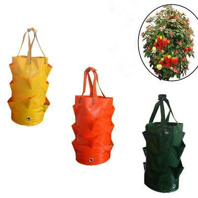 Garden Hanging Planter Grow Bag Plant Pouch Tomato Flower Strawberry Bags X5I8
