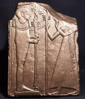EGYPTIAN GOD PTAH - Elegant 19th Dynasty Depiction of Creator God stone relief