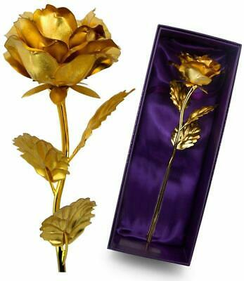 VALENTINE'S DAY GIFT FOR HER 24K Gold Plated Rose Dipped Flower Love Decor Women
