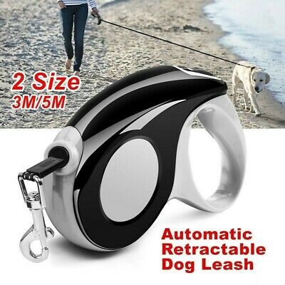 5M/3M Automatic Retractable Dog Leash Pet Collar Walking Lead Traction Rope