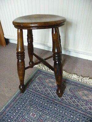 Antique Victorian Oak Stool