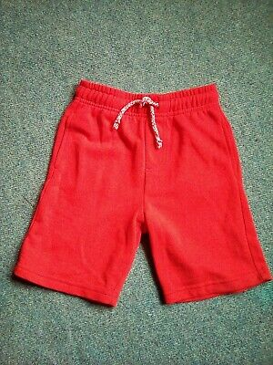 F&F boys red shorts age 5-6 years elasticated waist & stretch to body