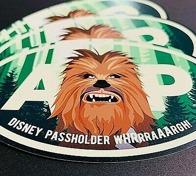"""Chewbacca Star Wars Oval Annual Passholder Car Magnet 5"""" x 3"""""""