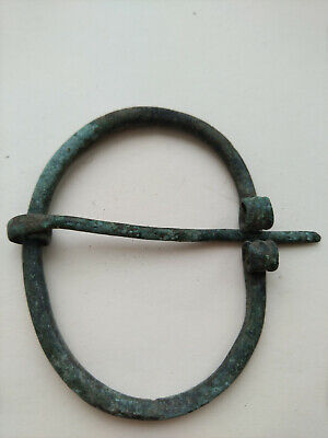 Celtic Bronze Big Fibula Brooch 6-8thc AD