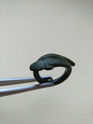 Ancient Celtic Bronze Snake Ring 300-100 BC