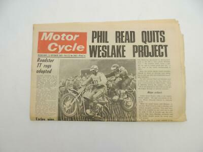 Oct 22 1969 Motorcycle Newspaper Phil Read Giacomo Agostini Royal Enfield B7613