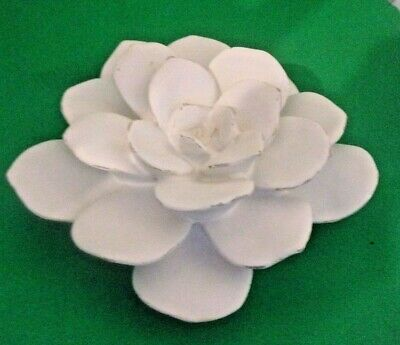 """Latex flower mold plaster garden mould 4""""W x up to 1.5"""" thick"""