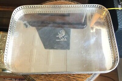 Antique English Serving Tray Sheffield Silverplate Reticulated Israel Freeman So