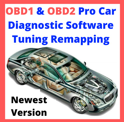🔥 OBD1 + OBD2 Pro Car Diagnostic Software Tuning Remapping ☑Newest Version🔥🔥