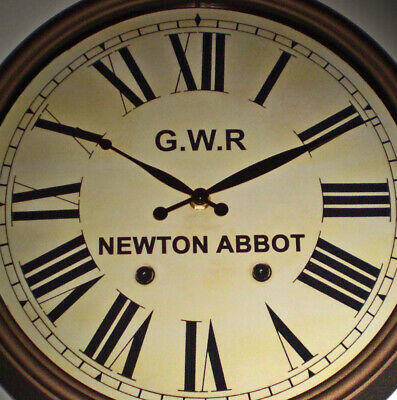 Great Western Railway GWR Victorian Style Clock, Newton Abbot Station