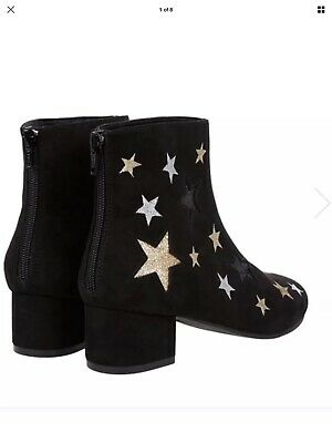 Monsoon Accessorize Girls Storm Metallic Star Shoe Boots Uk 4 Eur 37
