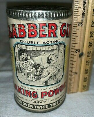 MINT CLABBER GIRL BAKING POWDER CARDBOARD TAG ADVERTISING FREE US SHIPPING