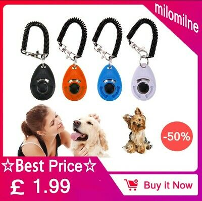 Dog Clicker Pet Trainer Teaching Training Tool For Dogs Clicking Key Ring