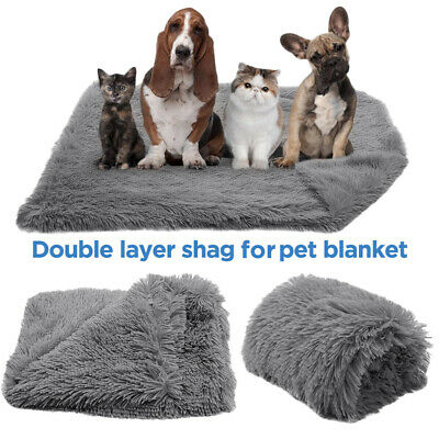Pet Dog Cat Puppy Soft Blanket Cosy Warm Fluffy Throw Mat Bed Kennel Washable UK