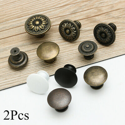 Furniture Antique Brass Drawer Knob Cabinet Pulls Door Handle Wardrobe Pulls