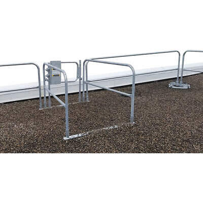 GARLOCK SAFETY SYSTEMS Guardrail,Gray,Overall 3-1/2 ft. H, 449-001-600