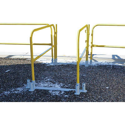 GARLOCK SAFETY SYSTEMS Guardrail,Yellow,Overall 3-1/2 ft. H, 449-001-001