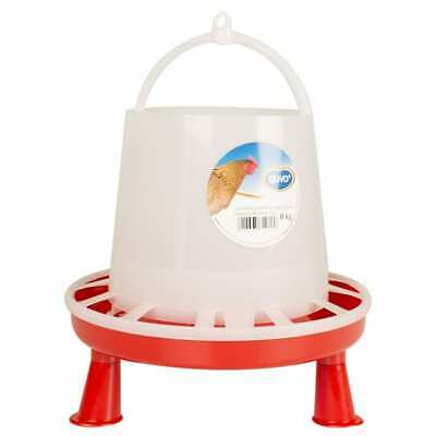 Duvo+ Poultry Feeder with Studs 8kg/10L Bird Food Distributor Pet Feeders