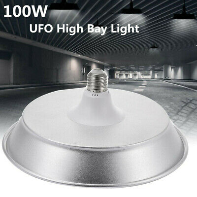 Super Bright Warehouse LED 100W UFO High Bay Lights Shop GYM Light Lamp E27