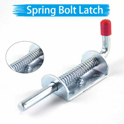 Spring loaded bolt gate door latch catch stable horse box trailer quick release