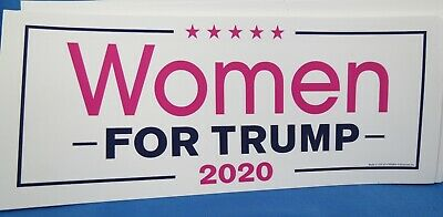 WHOLESALE LOT OF 20 WOMEN FOR TRUMP 2020 STICKERS girl vote support President